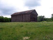 Former grain storage building in Anton.